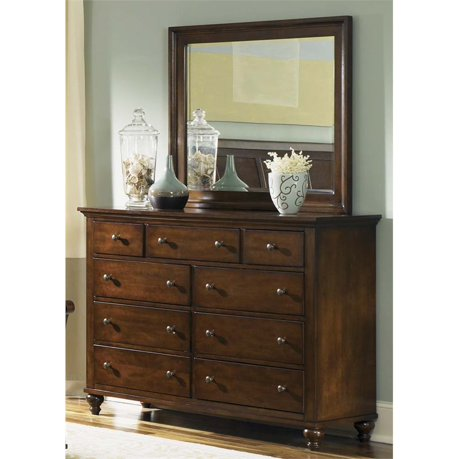 Liberty furniture hamilton 9 drawer dresser in cinnamon for I furniture hamilton