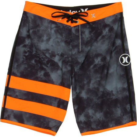 e6076e3875 Hurley - JJF Phantom 3 Men's Printed Black/Orange Fashion Boardshorts -  Walmart.com