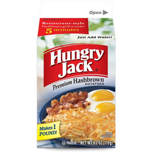 Hungry Jack Premium Hashbrown Potatoes, 4.2 oz by Basic American Foods