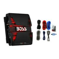 Boss Phantom PM1500 1500W 2 Ohm Mono Car Audio Amplifier w/ Remote and Wire Kit