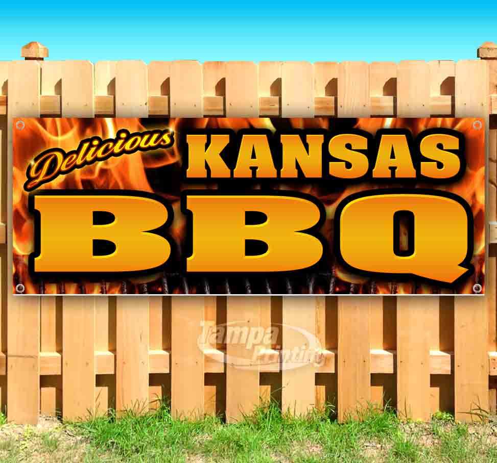 New Many Sizes Available BBQ Now Open Extra Large 13 oz Heavy Duty Vinyl Banner Sign with Metal Grommets Store Flag, Advertising