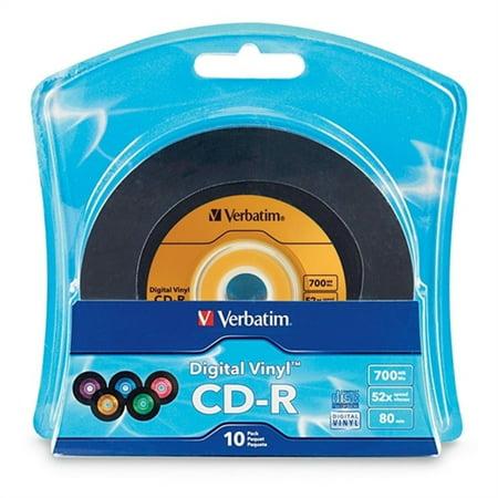 Verbatim 96858 Verbatim Digital Vinyl 52x Cd R Media