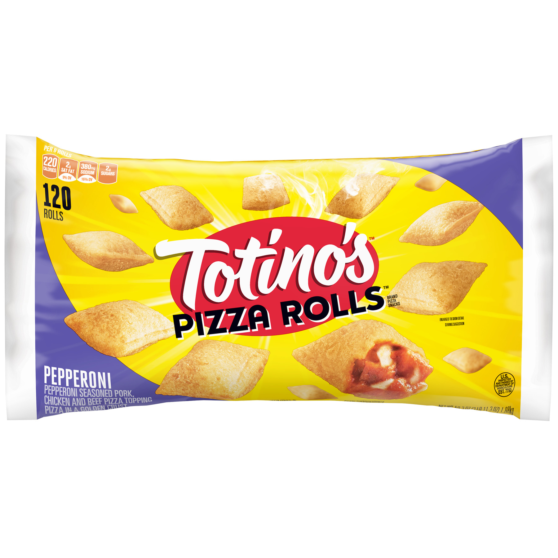 Totino's Pepperoni Pizza Rolls, 120 ct, 59.3 oz Bag