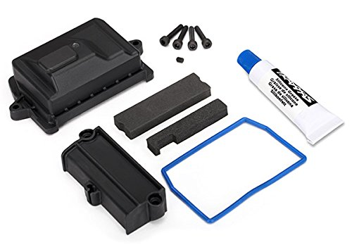 7724 X-Maxx Receiver Box, Lid, and Seals, Waterproof Receiver box By Traxxas by