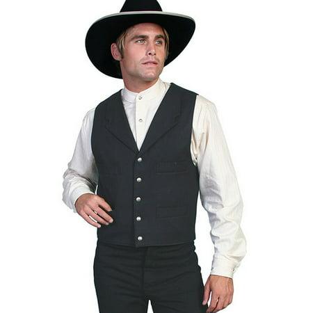 Scully Western Vest Mens Wool Adjustable Back Button Front 511064](Vest Western)