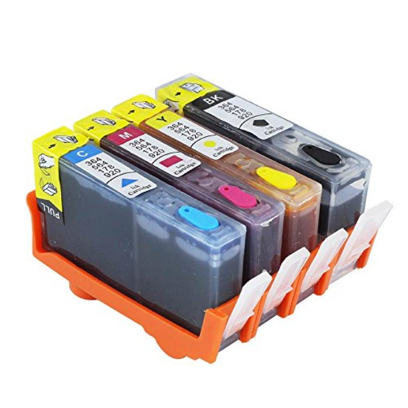 Cisinks Refillable Ink Cartridge Set for HP 564 Photosmar...