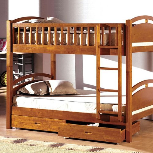 Harriet Bee Flounder Twin over Twin Bunk Bed with Drawers