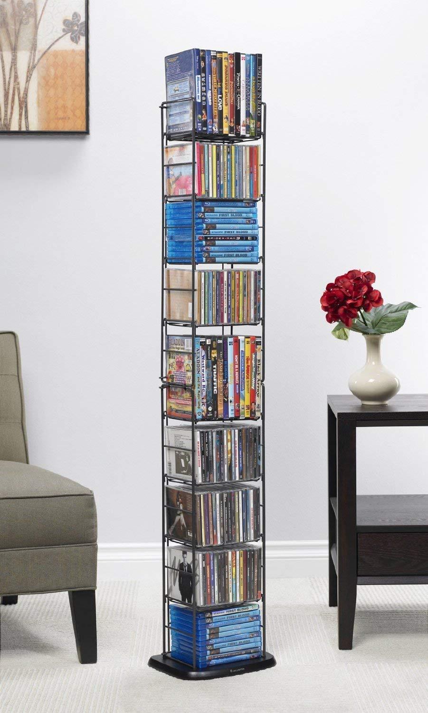 """Atlantic Inc 53"""" 8 Adjustable Shelf Media Rack in Black by Atlantic"""