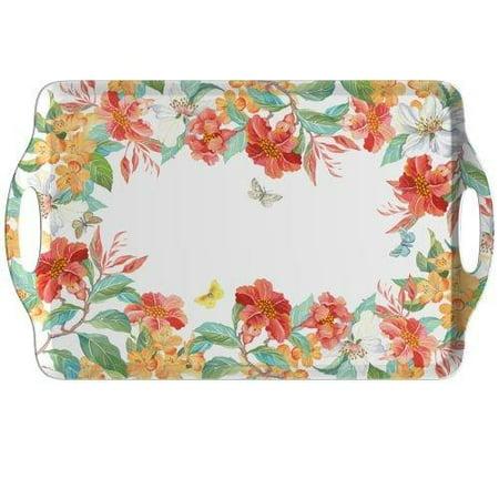 Pimpernel 2019518958 Maui Large Melamine Handled Tray-18.9 x 11.6, One Size, Multicolored ()
