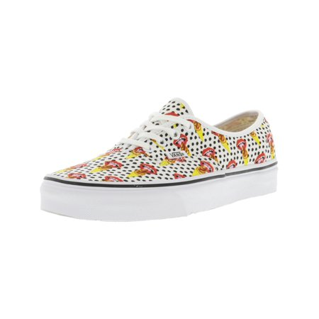 8cf96e180a Vans Authentic Kendra Dandy I Scream   True White Ankle-High Canvas  Skateboarding Shoe - 6M 4.5M - Walmart.com