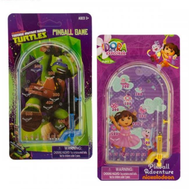 Bulk Buys KL20717 Assorted Dora & Ninja Turtles Kids Pinball Game by Bulk Buys