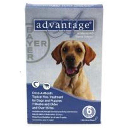 Bayer ADVANTAGE6-BLUE Advantage 6 Pack Dog 55 Lbs. & Up - Blue