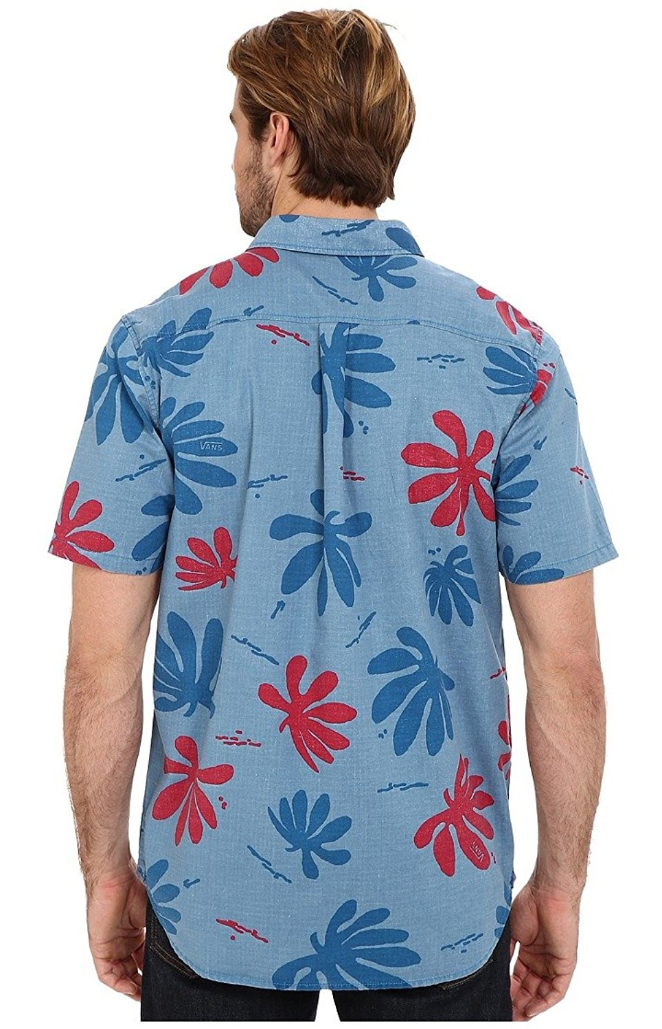 0eefb4ac3d VANS - Vans Men s Joel Tudor Montauk Hawaiian Shirt-Blue Red ...