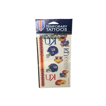Kansas Jayhawks Wincraft Red & Blue Gameday Temporary Tattoo - Blue Monarch Butterfly Tattoo