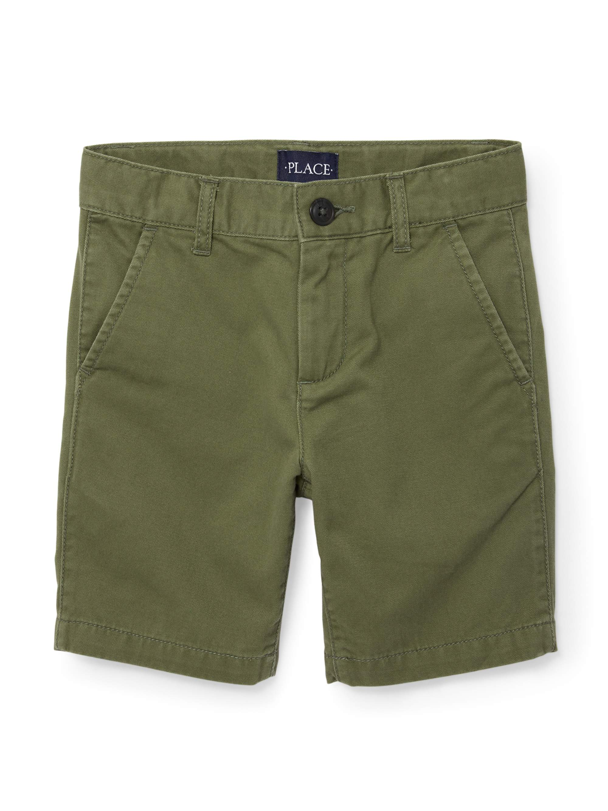 The Childrens Place Boy's Flat Front Twill Short