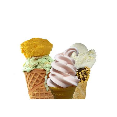 Framed Art For Your Wall Food Dessert Frozen Yoghurt Ice Cream Yogurt Sweet 10x13 - Frozen Photo Frame