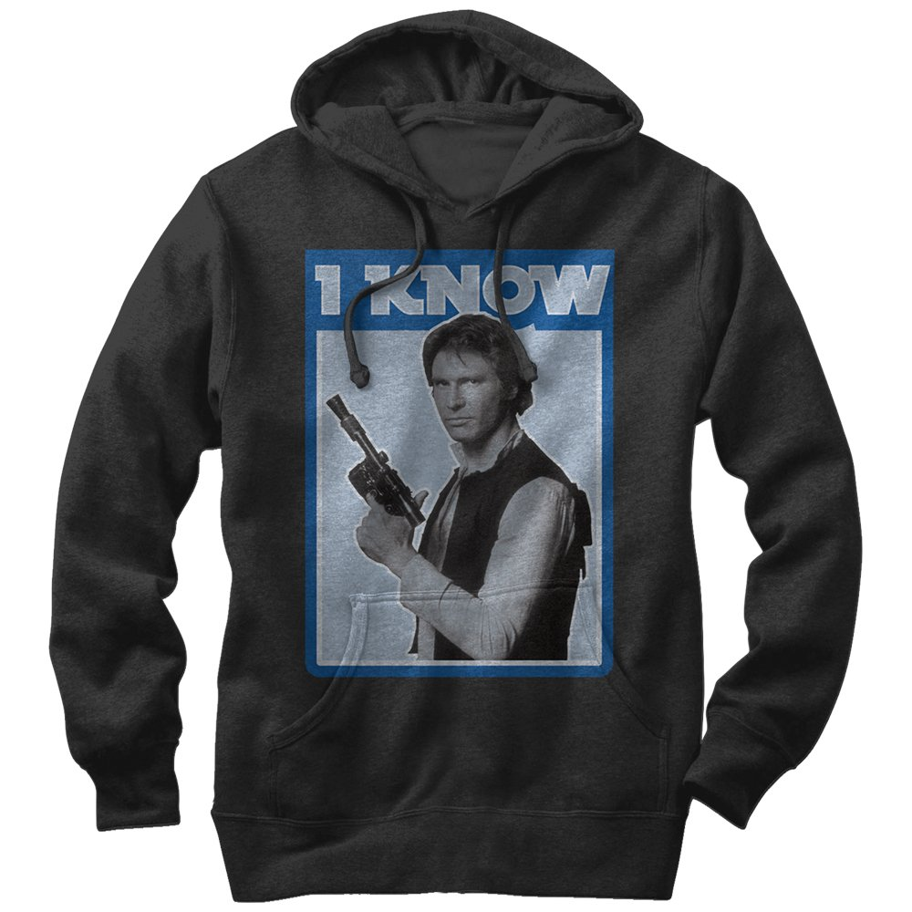 Star Wars Han Solo Quote I Know Mens Graphic Lightweight Hoodie