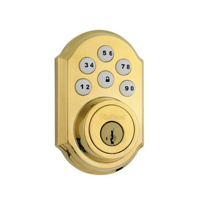 Kwikset Polished Brass Traditional Deadbolt ()