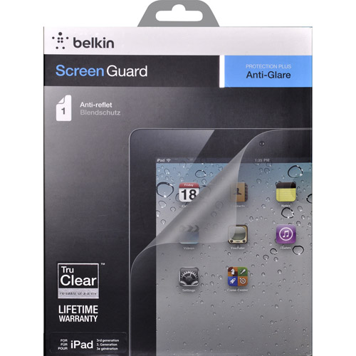Belkin Anti-Glare Overlay for New iPad, 2pk