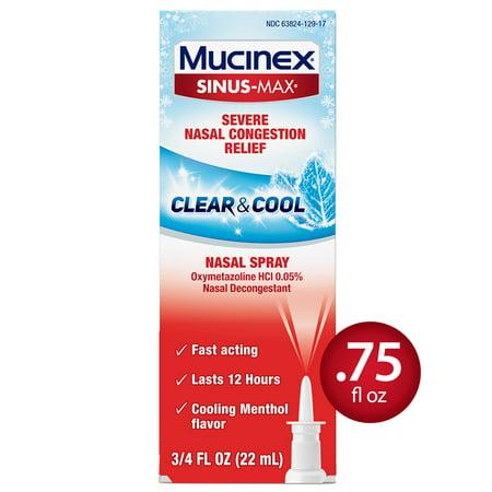 Mucinex Sinus-Max Nasal Spray Clear & Cool - 0.75
