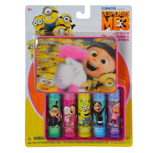 Minions 5pk Lip Balm in Case on Card