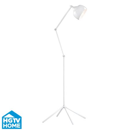 Dimond Lighting Hgtv328 1 Light Arc Floor Lamp In White From The Hgtv Vignola Co