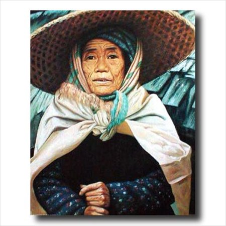 Asian Spanish Girl In Hat Wall Picture Art Print