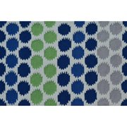 "The Rug Market Ikat Dot Blue 4.7"" x 7.7"" Area Rug"