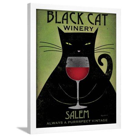 - Black Cat Winery Salem Framed Print Wall Art By Ryan Fowler
