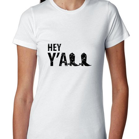 - Hey Y'all Cowgirl Boots - Popular Southern Women's Cotton T-Shirt