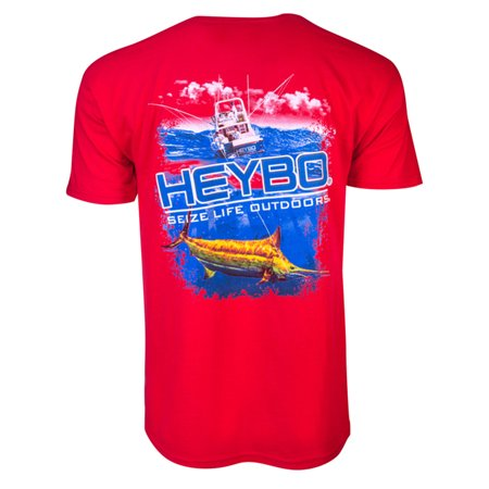 Heybo Offshore Rainbow Marlin Adult Ss T Shirt