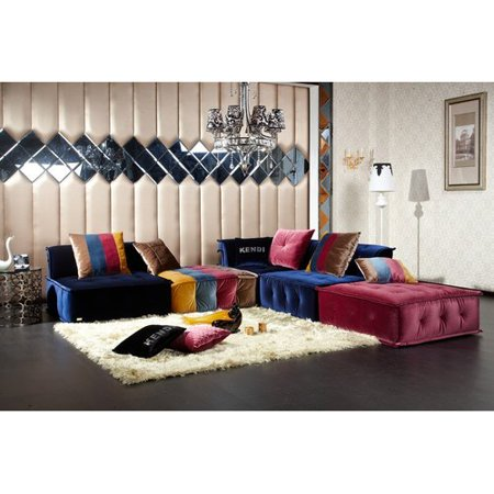 Bungalow Rose Aidy Modular Sectional with ottoman
