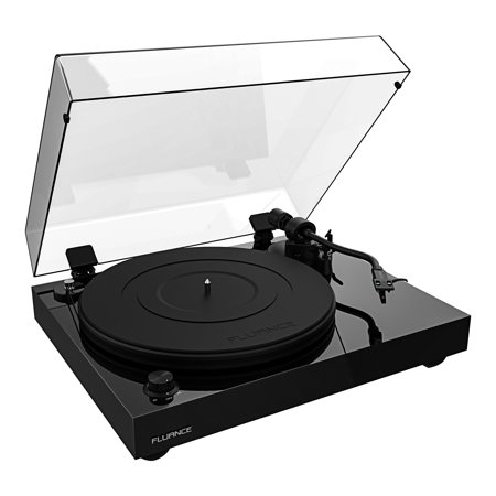 Fluance RT82 Reference High Fidelity Vinyl Turntable Record Player with Ortofon OM10 Cartridge, Speed Control Motor, Solid Wood Plinth, Vibration Isolation Feet - Piano Black Ortofon Record Bag