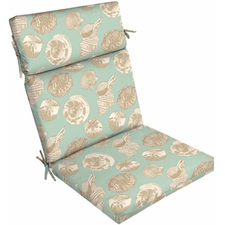 Better homes and gardens outdoor patio dining chair cushion seashells for Better homes and gardens patio furniture cushions