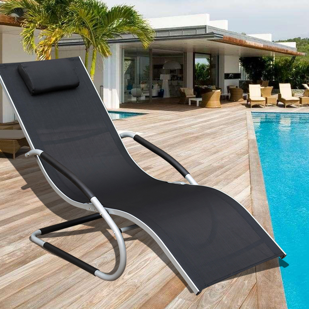 Sundale Outdoor Deluxe Aluminum Patio Garden Beach Yard Pool Chaise Lounge Chair... by Sundale Outdoor