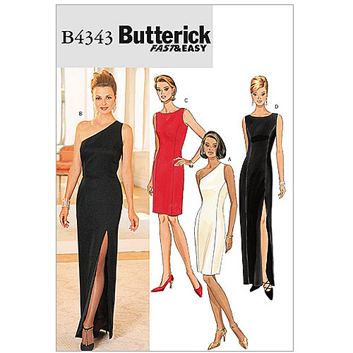 Butterick Pattern Misses and Misses' Petite Lined Dress, (14, 16, 18)