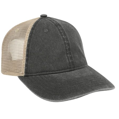 OTTO Washed Pigment Dyed Cotton Twill Low Profile Style Soft Mesh Back Caps-030332 -