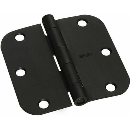 """Stanley Hardware 750382 3.5"""" Sante Fe Bronze Round Corner Door Hinges, 2-Count"""
