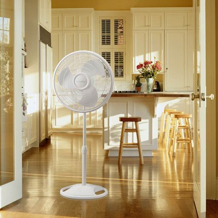 16 In. Oscillating Stand Fan - White - image 4 de 5