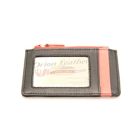 Womens Credit Card Holder Case Super Slim Genuine Leather Bright Colors Super Slim Leather