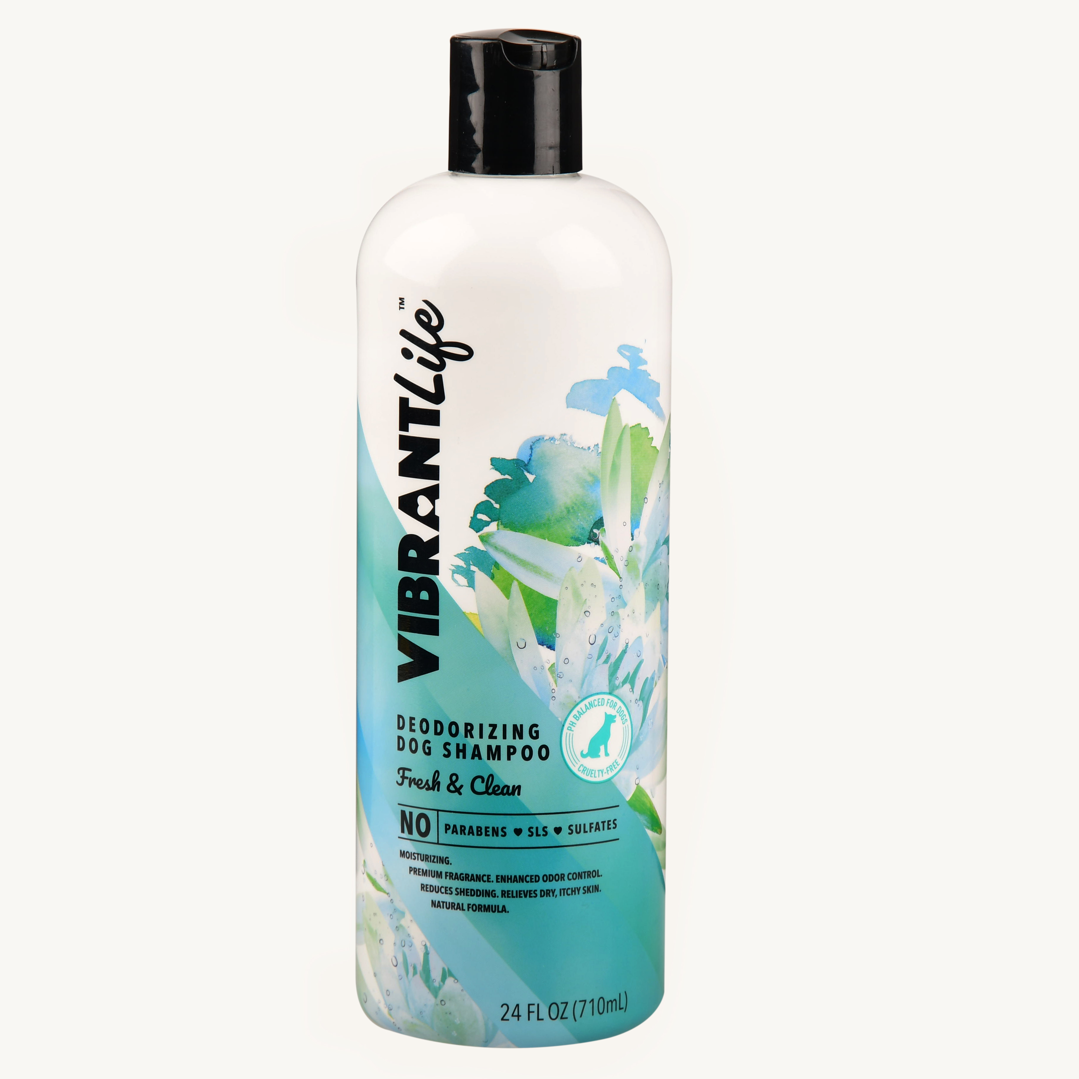 Vibrant life deodorizing dog shampoo fresh & clean, 24-oz bottle