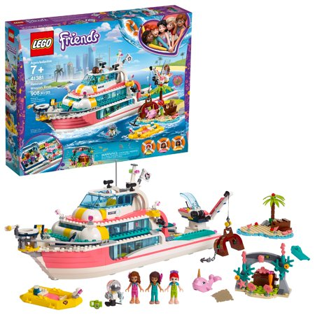 LEGO Friends Rescue Mission Boat 41381 Sea Building Kit (908 Pieces)