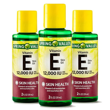 (3 Pack) Spring Valley Vitamin E Skin Health Moisturizer, 12000 IU, 2 Oz New Tend Skin Liquid