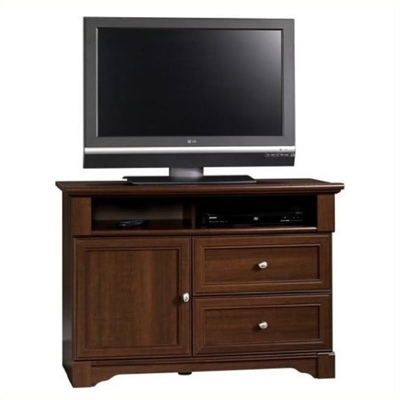 "Sauder Palladia Highboy TV Stand for TVs up to 50"", Select Cherry Finish"