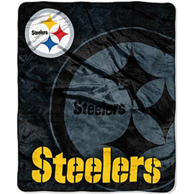 Pittsburgh Steelers 50''x60'' Roll-Out Style Royal Plush Raschel Throw Blanket