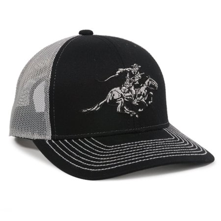 Winchester Horse Rider Mesh Back Black/White Hunting Hat](Horse Hat)