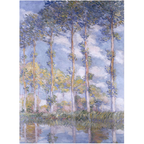 "Trademark Fine Art ""The Poplars"" Canvas Art by Claude Monet"