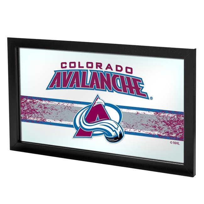 Trademark Global NHL1505-CA2 Colorado Avalanche NHL Framed Logo Mirror with Black Wrapped Wood Frame