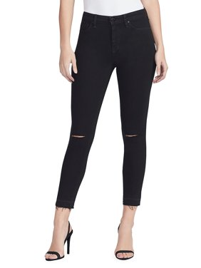 Sculpted High-Rise Skinny Ankle Jeans