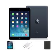Refurbished Apple iPad Mini 16GB Black - IPADMB16-BUNDLE - Space Gray, WiFi Only, 1 Year Warranty, Case and Tempered Glass Screen Protector included. (A1432, MD528LL/A)